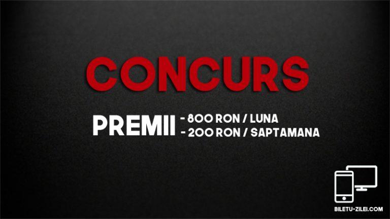 Concurs biletul zilei – premii 200 RON / saptamana