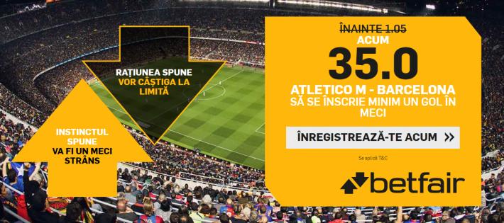 cota 35 pentru minim un gol marcat in atletico barcelona