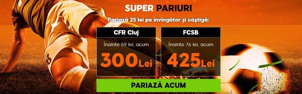 cote speciale pentru cfr cluj fcsb la 888sport