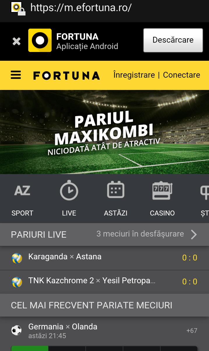 fortuna site mobil