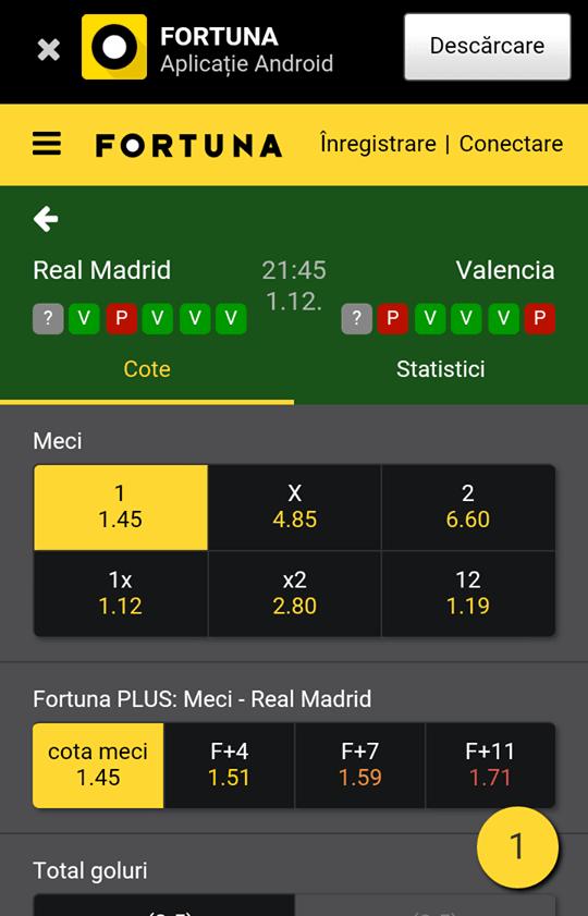 fortuna ofertă meci
