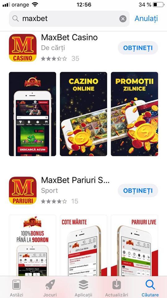 maxbet aplicatie mobil
