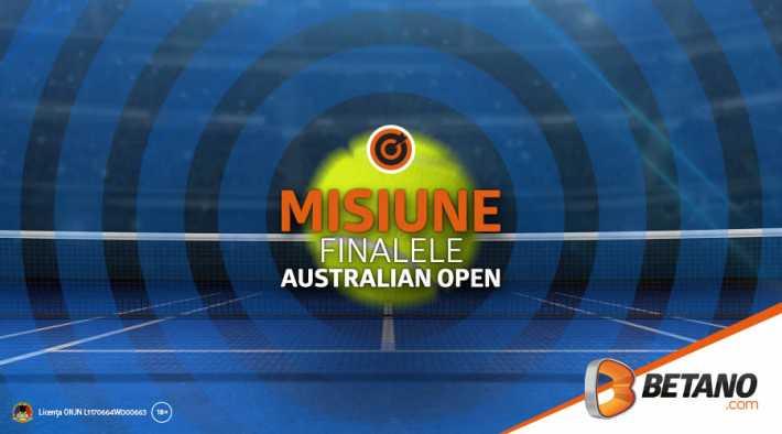 Misiune Betano: pariaza pe finalele Australian Open si primesti 20 RON FULLBET si rotiri gratuite la jocurile slot! Bonusuri pariuri