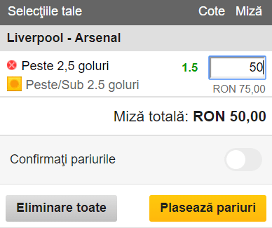 pronostic liverpool arsenal