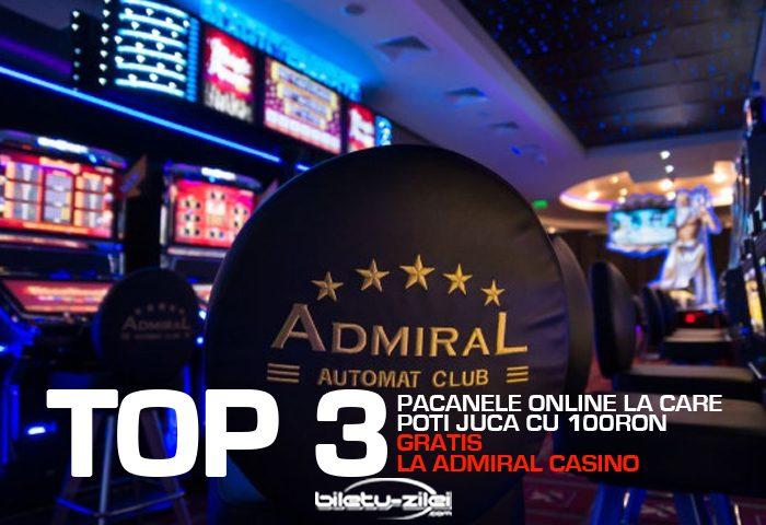 admiral păcănele online la care poți juca cu 100 ron gratis